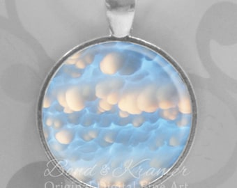 Mammatus Cloud Pendant & Descriptive Bookmark - Beautiful Clouds Puffy Clouds Sky Weather Nature Lover Meteorological Gift Day Dream