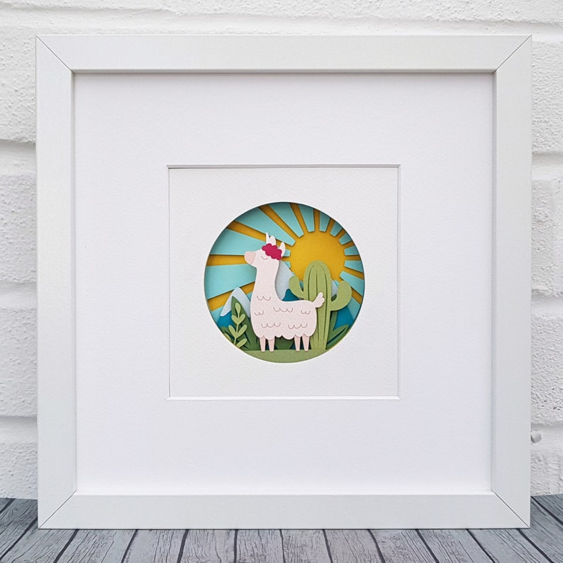 Llamacorn Cut Your Own DIY Layered 3D Shadow Box Papercutting Template  Printable PDF With Step-by-Step Tutorial