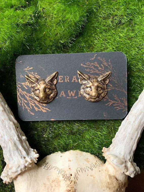 VULPES ~ Fox stud statement earring