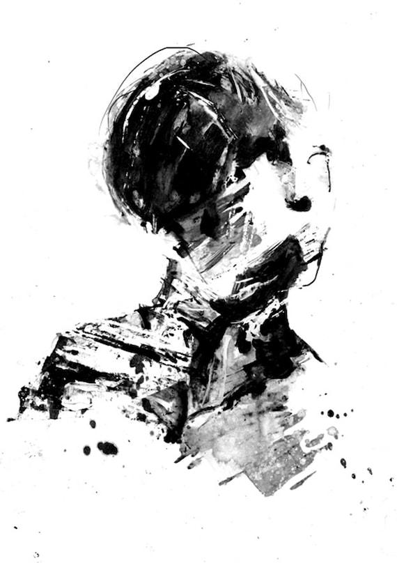 Kunst Schwarz Weiß : noch tinte kunstdruck schwarz wei kunst kunstdruck etsy ~ A.2002-acura-tl-radio.info Haus und Dekorationen