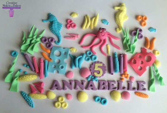 Under The Sea Ocean Edible Cake Topper Sugar Fondant