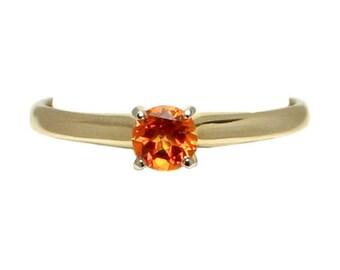 14k Yellow Gold Poppy Topaz Ring