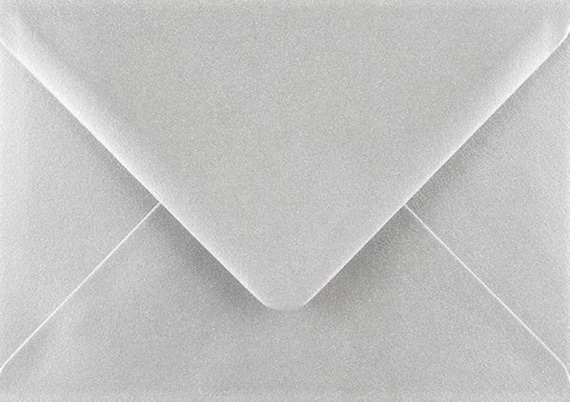 C5 Metallic Silver Envelopes by Cranberry Pack of 50