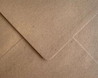 """ECO Kraft Envelopes Recycled Fleck 110gsm Gummed Flap - C5, C6, C7, 5"""" x 7"""", 165mm, 155mm, 130mm, DL"""