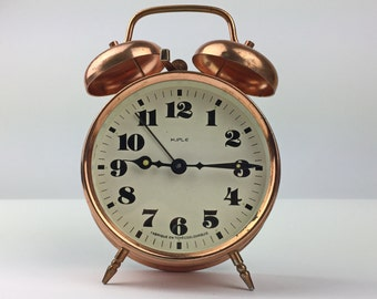 "Working Vintage Clock ""Kiple"" - Vintage clock - mechanical alarm clock - Vintage Alarm Clock - Working clock - Made in Czechoslovakia"
