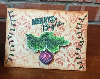 Merry & Bright Christmas Card
