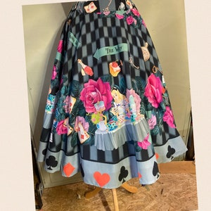 SALE ON STOCK Colourful Cotton handmade Summer Dress Handprint Pin Up Girl Retro UK14 US12