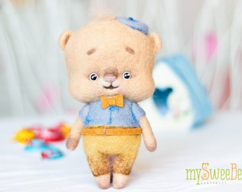 Sweet felted teddy bear SweeBe - toy