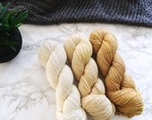 Hand Dyed Sock Yarn Gradient Set | Super Sock Golden