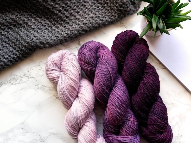 801593ab22f586 Hand Dyed Sock Yarn Gradient Set Super Sock Bordeaux
