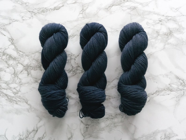 Hand Dyed Sock Yarn Super Sock Steel PREORDER