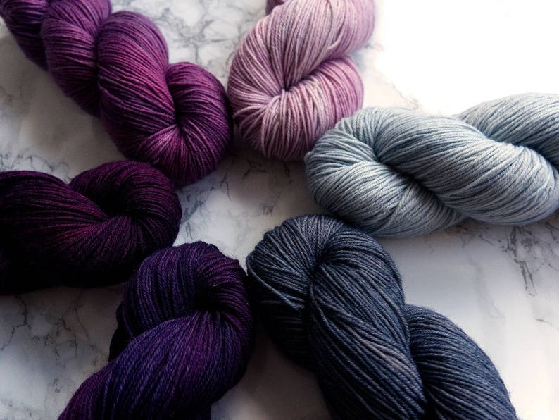 What the Fade Kit Winter PREORDER Hand Dyed Yarn Gradient Set