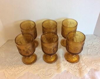 Vintage Depression  Wine Glass, Tiara, Water Goblets, Set of 6