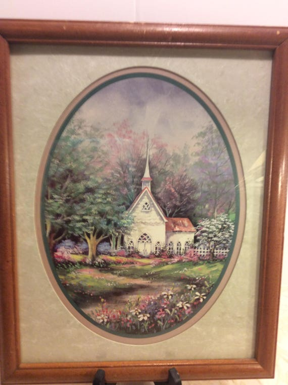Vintage Home Interiors Framed Art Picture Spring Meadows Etsy