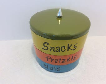 Vintage Davar 3 -Tier Stackable Snack Tray, Shabby Chic Retro Snack Tray, Boho Style Vanity Tray,