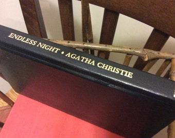 Vintage 1967 Book Agatha Christie Murder Mystery Endless Nights