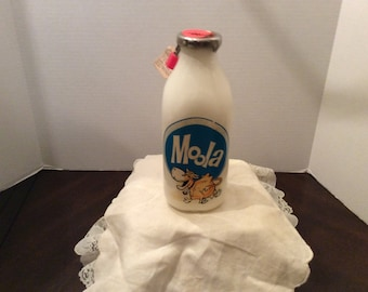 On Sale!  Vintage Moola Milk Bottle,  Money Bank