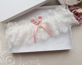 Wedding garter with ivory eyelash lace bridal garter with sage green bow and opal sage garters for wedding