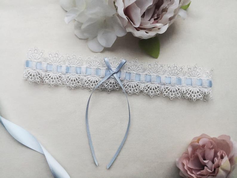 mariée quelque chose de bleu Personnalisé Jarretière de mariage fait main Lingerie fleurs poule