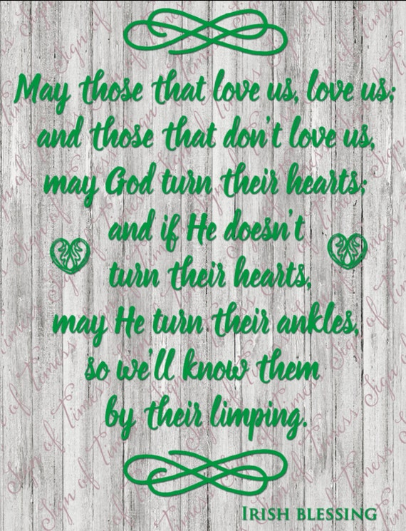 Irish Blessing SVG PNG DFX EPs For Silhouette Cameo Etsy Beauteous Irish Proverbs About Love