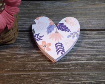 Designer Heart Die Cuts - 40 PC Paper Goods, Embellishments, Crafts, Scrapbooking, Card making, Journaling,  VTC-0173D