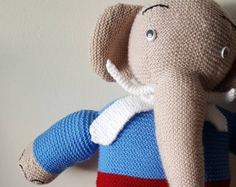 Handmade elephant - stuffed toy