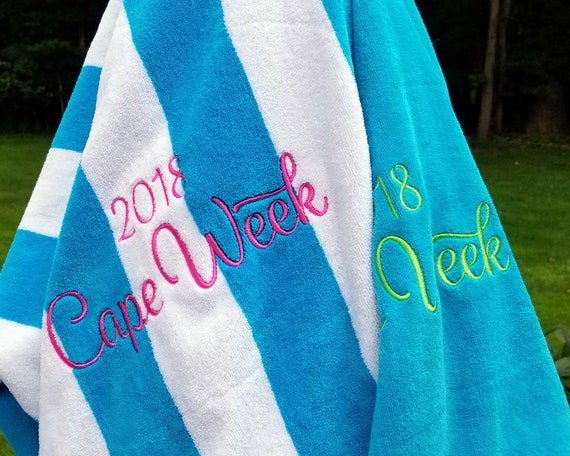 Extra Large Personalized Beach Towel Bridesmaid Gift Etsy