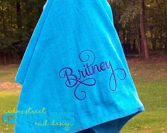 Extra Large Monogrammed Beach Towel Personalized Beach Towel Etsy