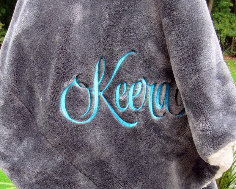 Personalized Throw Blanket  Monogrammed Sherpa blanket  image 0