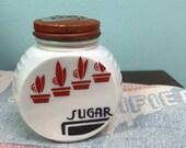 Vintage Fire King Vitrock Sugar Shaker