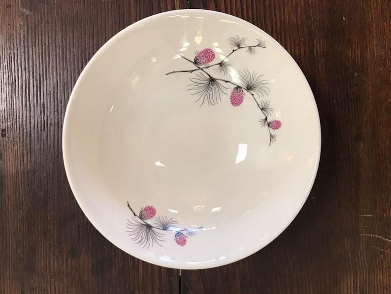 Vintage Wild Clover Canonsburg Pottery Serving Bowl