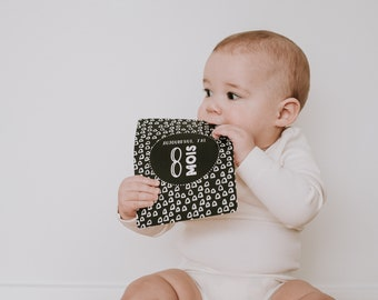 """""""My First Year"""" baby step cards, photography cards, black and white, baby milestone, birth gift"""