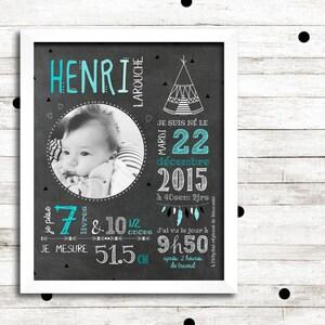 First birthday poster custom Little lumberjack /_FICHIER numerique/_tableau chalkboard chalkboard poster Blackboard