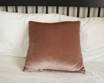 07 - Blush velour pillow cover
