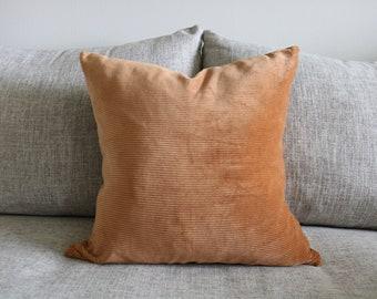 "20 - Corduroy Orange Pillow Cover - 18"" x 18"""