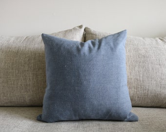 """19 - Chambray Blue Pillow Cover - 18"""" x 18"""""""