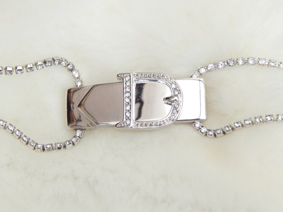 christian dior rhinestone choker necklace