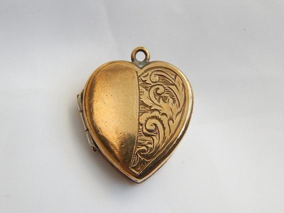 small edwardian heart locket
