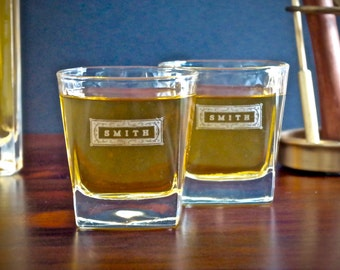 Groomsmen Gift – Personalized Whiskey Glasses – Engraved