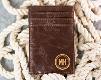 Customized Leather Money Clip - Personal Gift for the Man in your Life