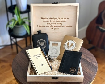 Appreciation Gift Box - 6 Piece Personalized Gift Set for Men - Unique Gift for Boyfriend or Husband - Anniversary Gift for Men