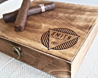 Groomsmen Gift Box – Personalized Cigar Box – A Personalized Gift, great for Groomsmen Gifts, Best Man Gift or Wedding Gift