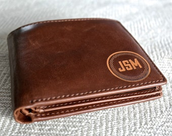 Groomsmen Gift - Personalized Mens Wallet, Leather Wallet, Great Mens Gift