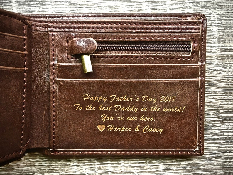 54140cb7f3f1 Fathers Day Gift Personalized Men s Leather Wallet The