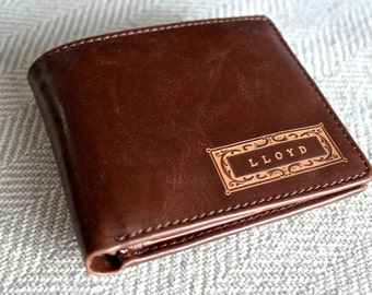 Personalized Men's Wallet - Leather Wallet, The Perfect Mens Gift, Boyfriend Gift, or Groomsmen Gift