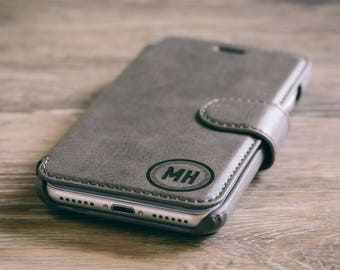 iPhone 7 Case - Personalized - Custom Engraved - Grey