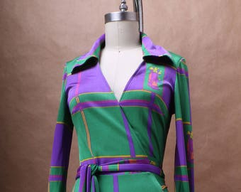 On Hold - Diane Von Furstenberg Geometric Printed Wrap Dress c. 1972