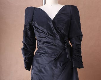 Arnold Scaasi Off-The-Shoulder Mini Dress c. 1985