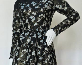 Iconic Vintage Jean Louis Graphic Embroidered Cocktail Dress