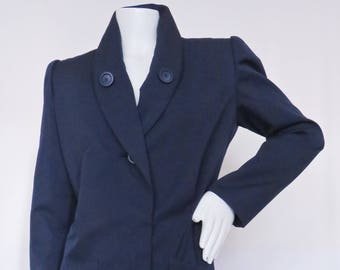 Vintage Givenchy Couture Shawl Collar Dress